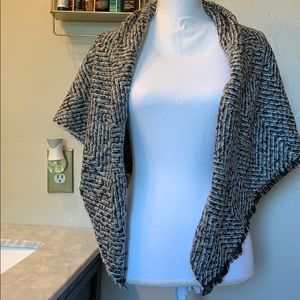 Express black and white soft and warm cover up